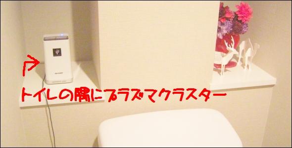 トイレに置いたプラズマクラスター
